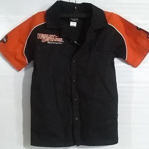 Harley Davidson Kids Mechanic Shirt Size 8-10